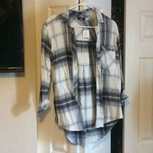 Urban Outfitters BDG Blue and White Flannel